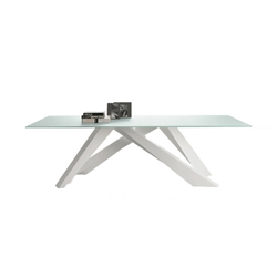 BONALDO BIG TABLE (Anthracite grey 250 cm - Solid american walnut ...