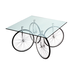 FONTANA ARTE table with wheels of bicycle TOUR