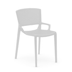 INFINITI set of 4 perforated chairs FIORELLA
