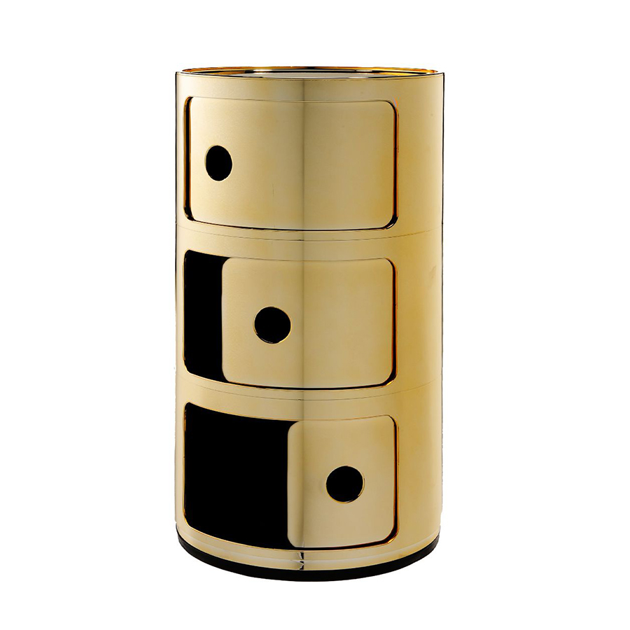 Kartell Bedside Componibili Three Elements Metal Precious Collection