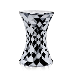 KARTELL stool STONE DUNE METAL PRECIOUS COLLECTION
