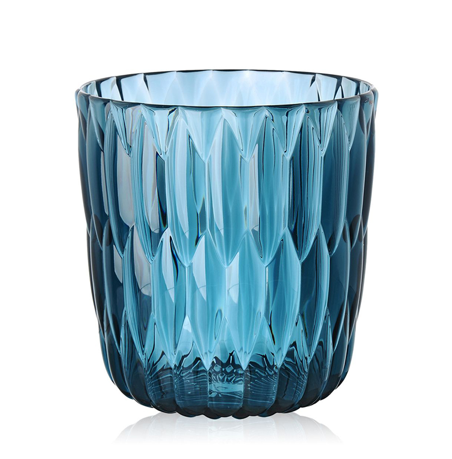 Kartell vaso jelly blu pmma trasparente for Vaso blu