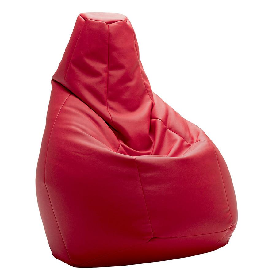 Zanotta poltrona anatomica sacco rosso pelle for Poltrone zanotta