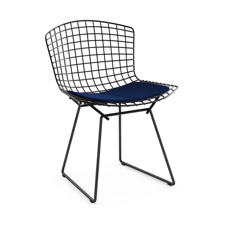 Knoll Chaise Avec Coussin Bertoia Structure Noire Coussin