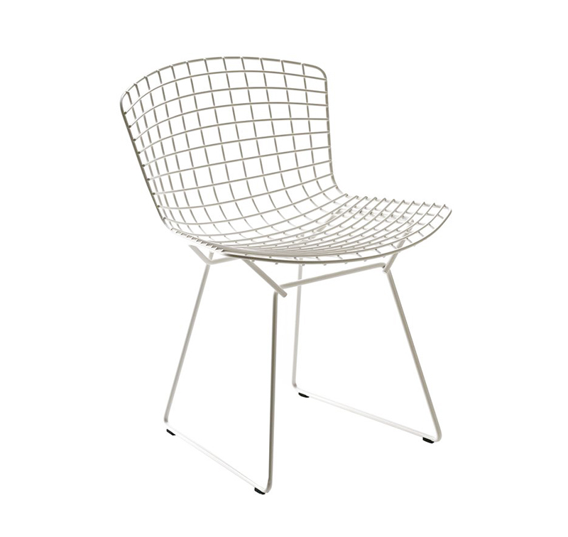knoll sedia bertoia bianco acciaio