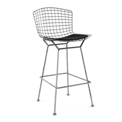 KNOLL Bar stool with cushion BERTOIA