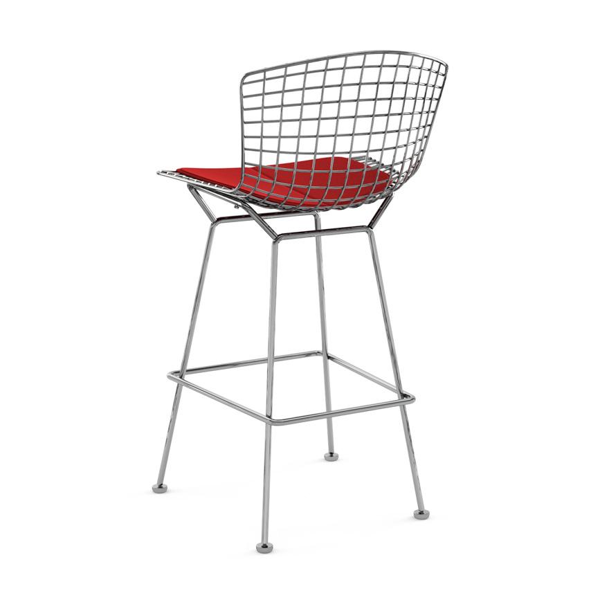 Knoll Counter Stool With Cushion Bertoia Myareadesign It