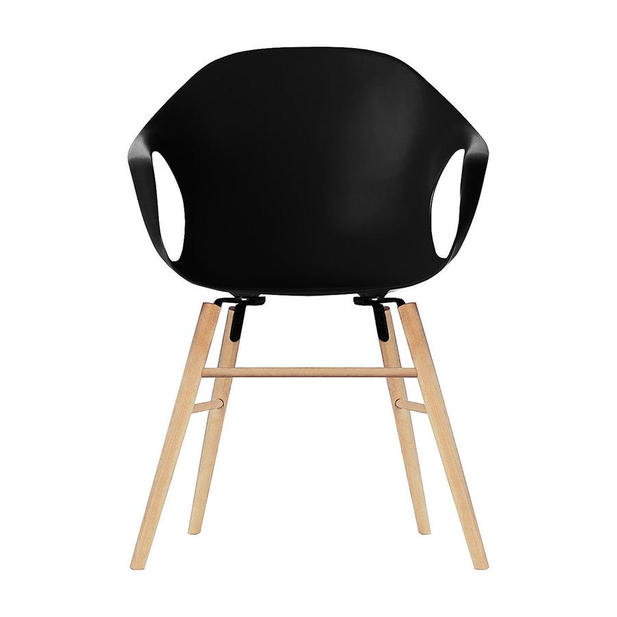 fauteuil piètement bois et bois polyuréthane de ELEPHANTNoir KRISTALIA sur Hêtre TPiZkXuO