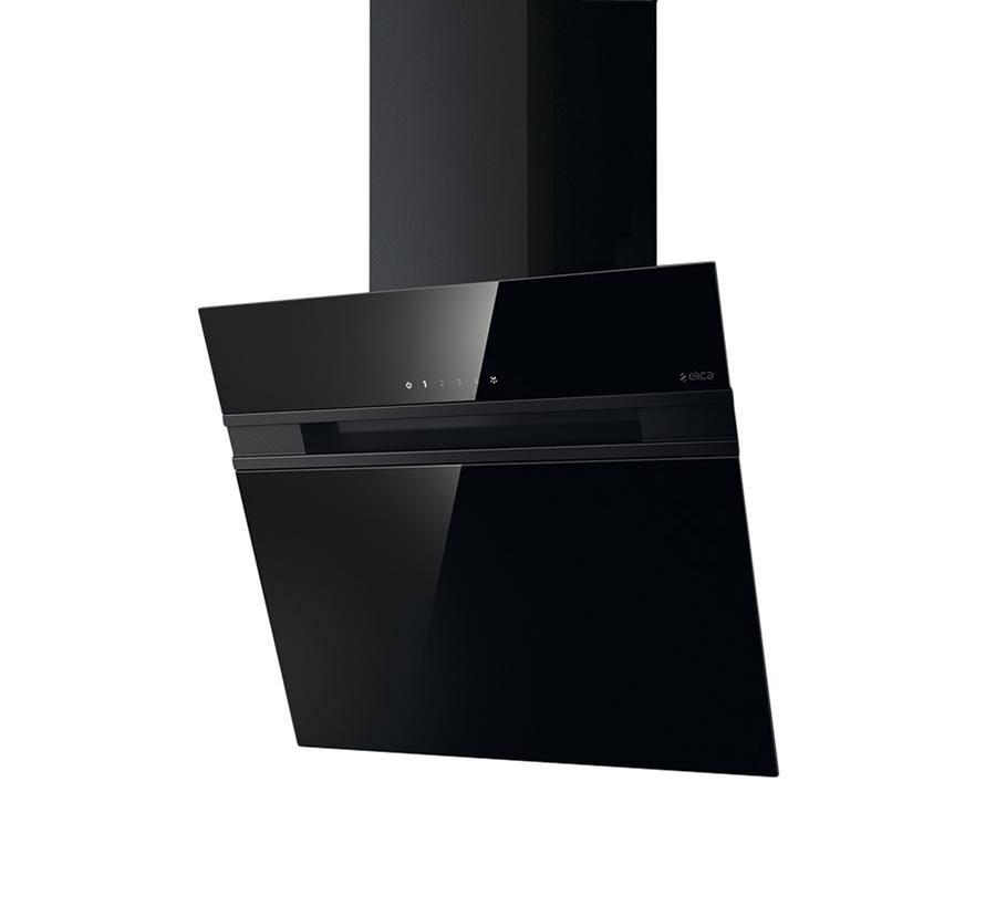 elica cappa da parete stripe nero 60 cm vetro. Black Bedroom Furniture Sets. Home Design Ideas