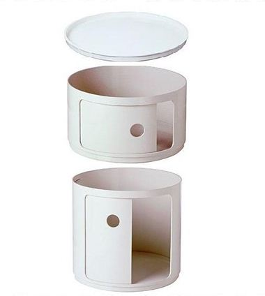 KARTELL comodino tondo COMPONIBILI BIANCO - MyAreaDesign.it