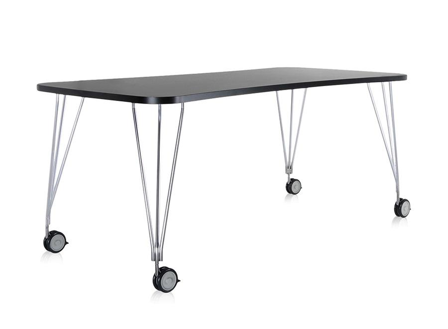 Kartell tavolo con ruote max l 190 cm ardesia piano - Tavolo con ruote ...