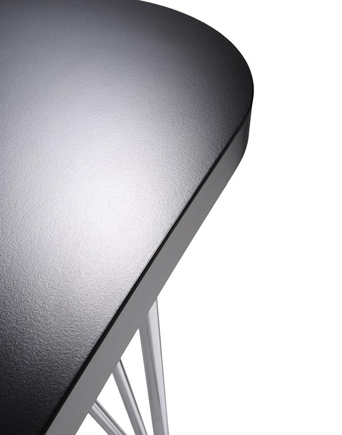 acier MAXL Structure cm rayures Ardoise 190 Pleateau sur anti roulettes en laminé chromé KARTELL table oeWCrdxB