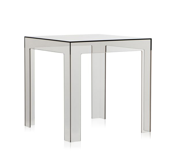 Kartell table basse jolly fum clair polycarbonate for Table exterieur kartell