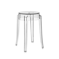 KARTELL stool CHARLES GHOST height 46 cm