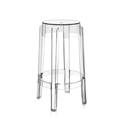 KARTELL stool CHARLES GHOST height 65 cm