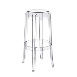 KARTELL stool CHARLES GHOST height 75 cm