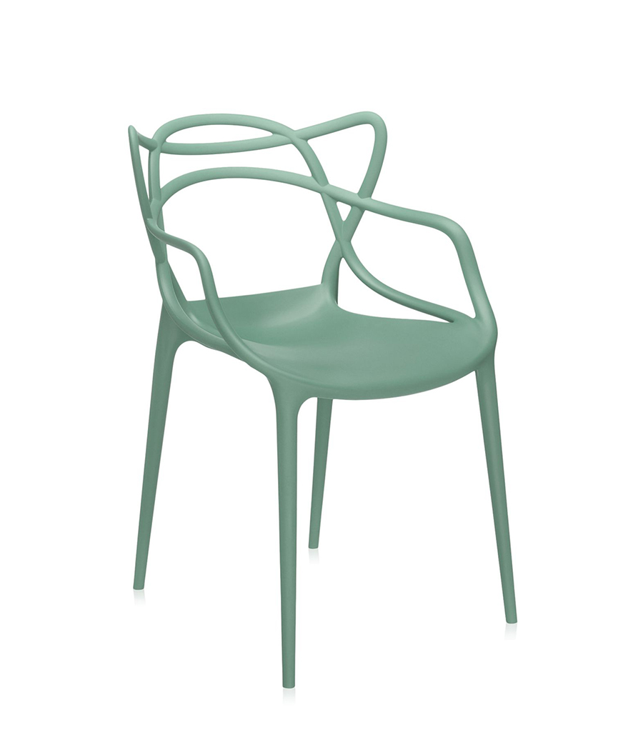 KARTELL set of 2 chairs MASTERS (Sage green - Dyed polypropylene ...