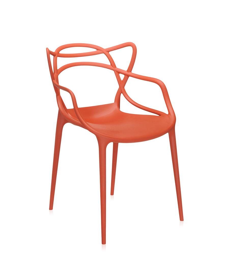 KARTELL set da 2 sedie MASTERS (Arancio ruggine - Polipropilene ...