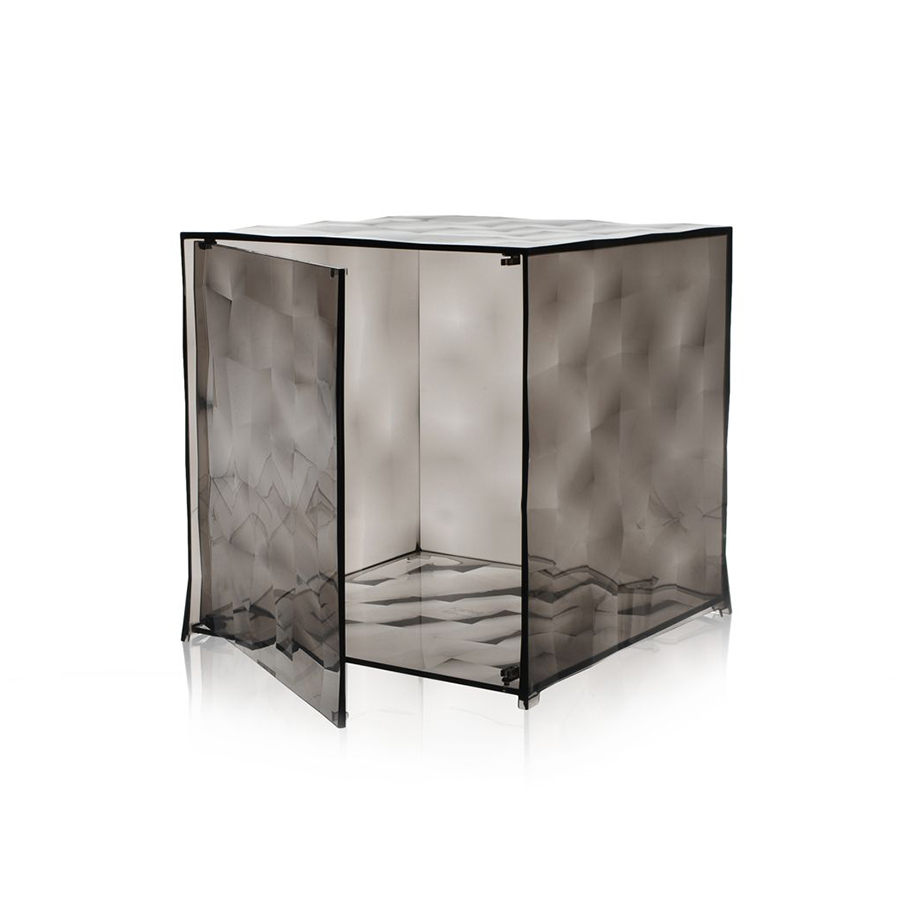 Kartell Cube Optic Smoke Grey With Door Transparent Polycarbonate