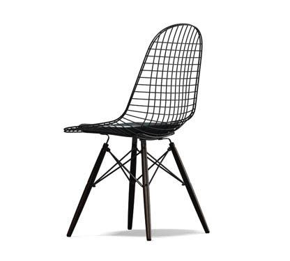 Con Wire 5 Chair Vitra Nero E Dkw Cuscino Sedia Basamento vbfy6gY7