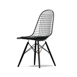 VITRA chair with black base and cushion Wire Chair DKW-5