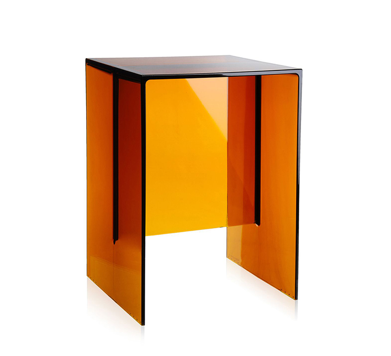 Kartell by laufen table tabouret max beam ambre pmma for Table exterieur kartell
