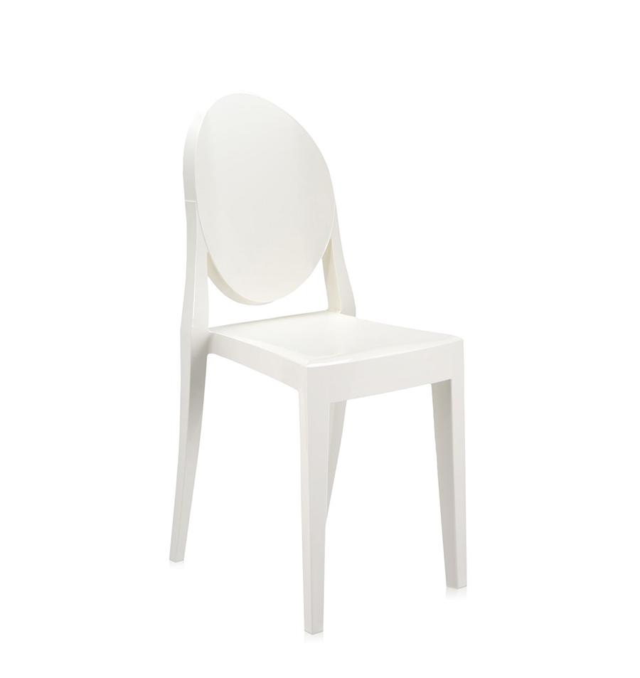 KARTELL sedia VICTORIA GHOST (Bianco - Policarbonato colorato in ...