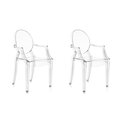 KARTELL set of 2 chairs LOUIS GHOST