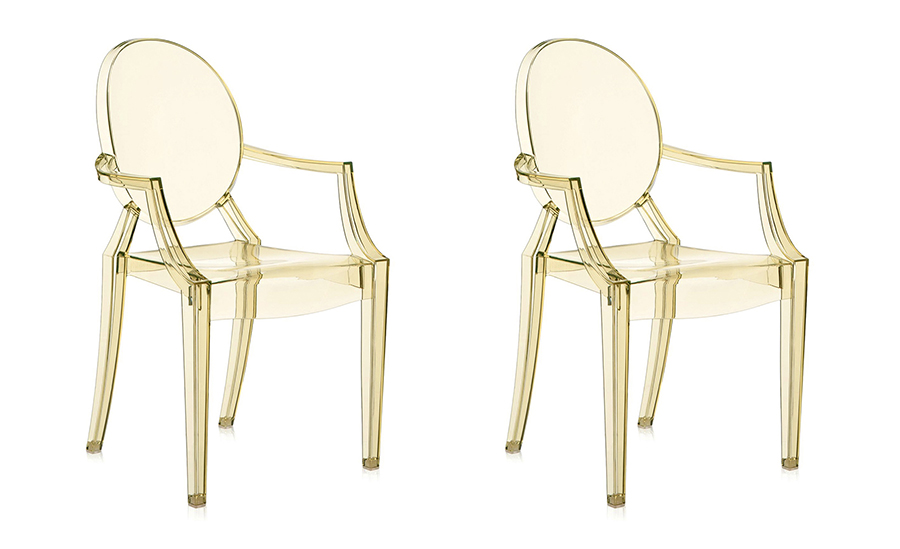 KARTELL set of 2 chairs LOUIS GHOST (Yellow - Transparent ...