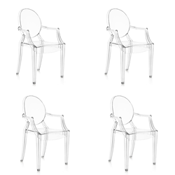 KARTELL set of 4 chairs LOUIS GHOST