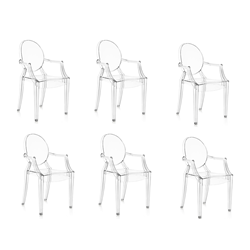 KARTELL set of 6 chairs LOUIS GHOST