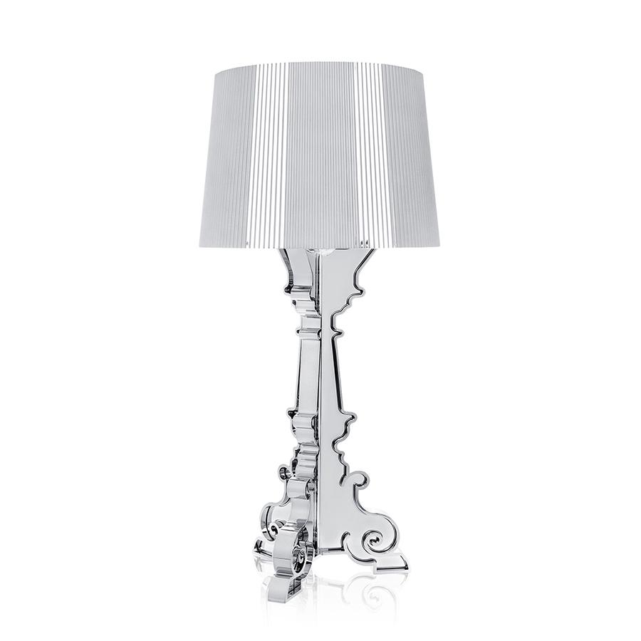 Kartell lampada da tavolo bourgie argento abs for Lampada kartell prezzo