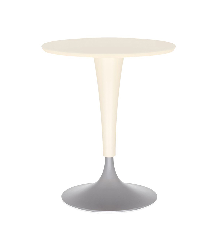 Kartell table dr na blanc cir plateau smc anti for Table exterieur kartell