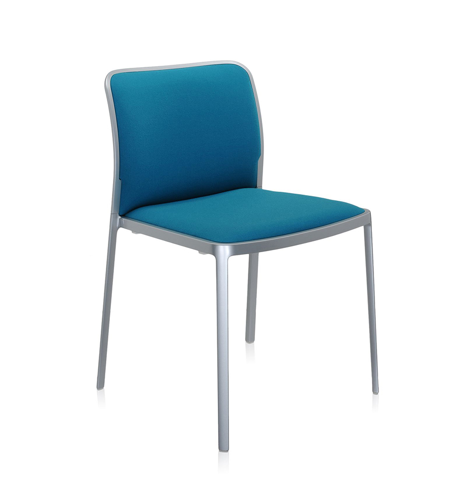 Kartell set da 2 sedie audrey soft tessuto trevira for Sedie design tessuto