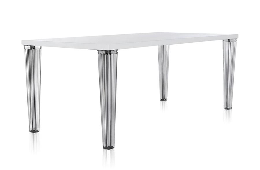 Tavolo Cucina Kartell.Kartell Tavolo Top Top Piano In Vetro Dim 190x72x90 Bianco