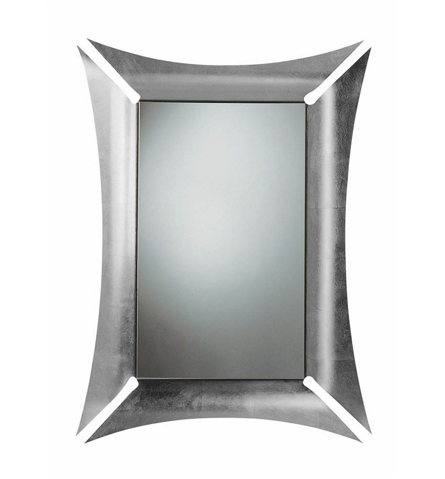 Arti e mestieri specchio da parete morgana foglia argento for Specchio da parete argento