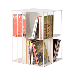 KRIPTONITE free-standing bookcase KROSSING ROTATING 50x50xH66 cm WHITE