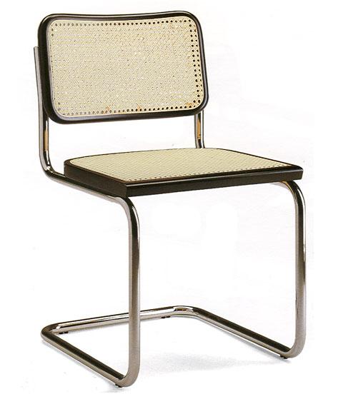 KNOLL sedia CESCA by Marcel Breuer (Faggio nero laccato - Paglia di ...