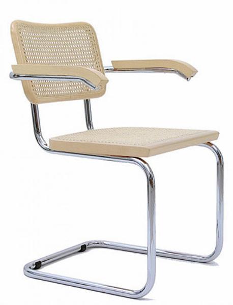 Knoll sedia con braccioli cesca by marcel breuer faggio for Sedia design paglia di vienna