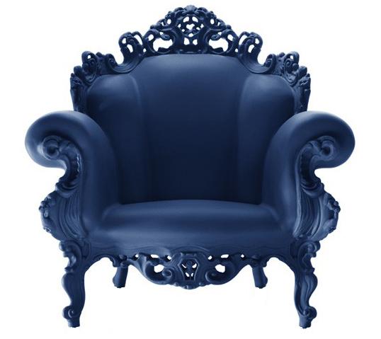 Magis fauteuil proust bleu poly thyl ne for Fauteuil proust