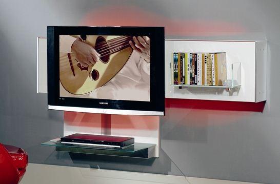 Porta Tv Lcd Vetro.Munari Mobile Porta Tv Pensile Belt03 Bianco Vetro