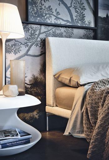 Zanotta letto matrimoniale talamo con piedini neri per materasso 170 x 200 cm - Letto matrimoniale con materasso ...