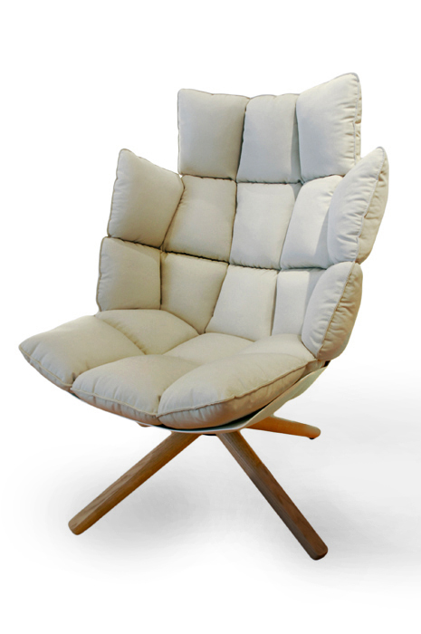 B b italia swivel armchair husk for Swivel armchairs for living room