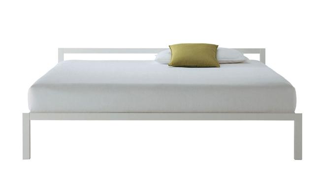 Letto Matrimoniale Laccato Bianco.Mdf Italia Letto Matrimoniale Aluminium Bed Bianco 170x210 Cm