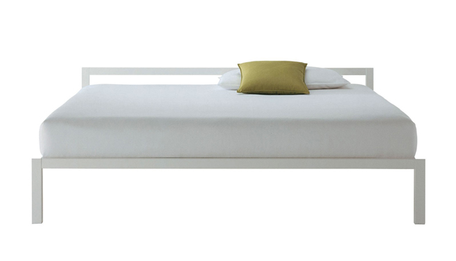 Letto Matrimoniale Laccato Bianco.Mdf Italia Letto Matrimoniale Aluminium Bed Bianco 190x210 Cm