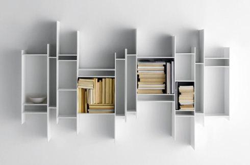 Estremamente MDF ITALIA libreria da parete RANDOMITO - MyAreaDesign.it JE64