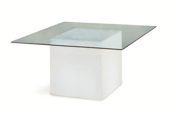 Slide tavolo luminoso square per uso interno con piano in - Tavolo luminoso per disegno ...