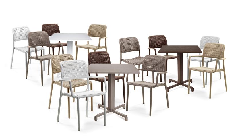 Nardi set da 4 sedie con braccioli bora da esterni for Bora elettrodomestici
