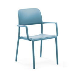 NARDI set of 4 outdoor chair with arms RIVA CONTRACT COLLECTION
