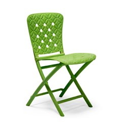 NARDI set de 4 chaises pliantes ZAC SPRING d'exterieur GARDEN COLLECTION